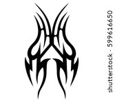 tattoo tribal vector designs... | Shutterstock .eps vector #599616650