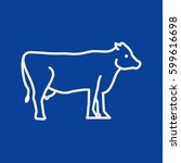 cow web line icon. | Shutterstock .eps vector #599616698