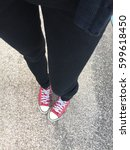feet from above concept ... | Shutterstock . vector #599618450
