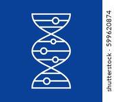 vector dna molecule icon | Shutterstock .eps vector #599620874