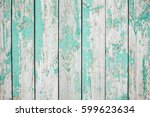 old wooden fence with light... | Shutterstock . vector #599623634