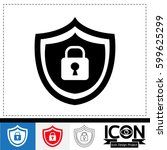 security icon | Shutterstock .eps vector #599625299