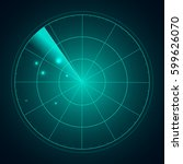 blue radar screen with targets...   Shutterstock .eps vector #599626070
