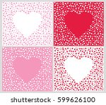 Heart pattern set. Vector heart pattern. Heart shape pattern