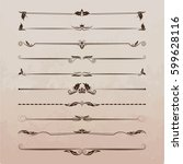 a large set of dividers. vector ...   Shutterstock .eps vector #599628116