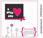 Vector Scrap Card With Heart...