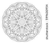 mandala. black and white... | Shutterstock .eps vector #599630954