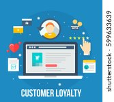 customer loyalty marketing... | Shutterstock .eps vector #599633639