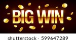 big win gambling games banner... | Shutterstock .eps vector #599647289