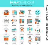 vector set of communication and ... | Shutterstock .eps vector #599647949