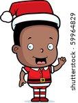 A Happy Cartoon Christmas Elf...