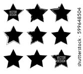 stamps collection. grunge stars ... | Shutterstock .eps vector #599648504