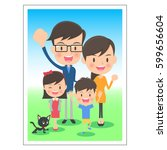 family memorial photo | Shutterstock .eps vector #599656604