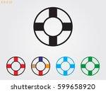 lifebuoy  icon  vector... | Shutterstock .eps vector #599658920