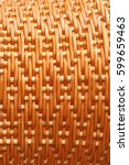 machine woven wicker with a... | Shutterstock . vector #599659463