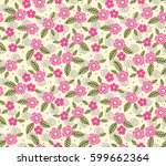 vector seamless pattern. cute... | Shutterstock .eps vector #599662364