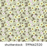 floral pattern. pretty flowers... | Shutterstock .eps vector #599662520