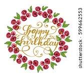 birthday greeting card design... | Shutterstock .eps vector #599662553