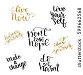 set of vector handwritten... | Shutterstock .eps vector #599662568