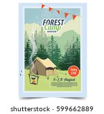 Summer Camp Poster. Tent ...