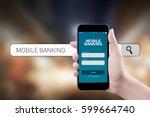 concept mobile banking  | Shutterstock . vector #599664740
