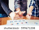 group of hands with thumbs up... | Shutterstock . vector #599671208