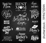mother's day design elements ... | Shutterstock .eps vector #599673044