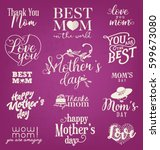 mother's day design elements ... | Shutterstock .eps vector #599673080