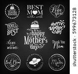 mother's day design elements ... | Shutterstock .eps vector #599673128