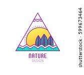 vector logo of nature elements... | Shutterstock .eps vector #599673464