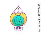 vector logo in the form of drop ... | Shutterstock .eps vector #599673650