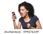 angry mixed race caucasian  ...   Shutterstock . vector #599676149
