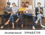 group of five multi generation... | Shutterstock . vector #599683739