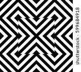 vector seamless pattern.... | Shutterstock .eps vector #599684918