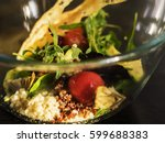 salad with quinoa  avocado and... | Shutterstock . vector #599688383
