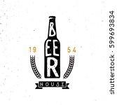 beer house emblem  lettering... | Shutterstock .eps vector #599693834