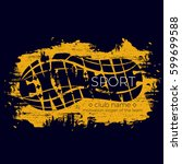extreme sport vector logo.... | Shutterstock .eps vector #599699588