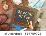 special offer inscription on... | Shutterstock . vector #599709728