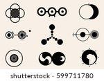crop circles  crop circles ... | Shutterstock .eps vector #599711780