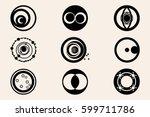 crop circles  crop circles ...   Shutterstock .eps vector #599711786