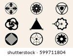 crop circles  crop circles ... | Shutterstock .eps vector #599711804
