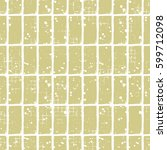 seamless vector checkered... | Shutterstock .eps vector #599712098