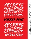 graphic font for your design.... | Shutterstock .eps vector #599713118