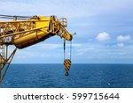 crane  pedestal crane winch... | Shutterstock . vector #599715644