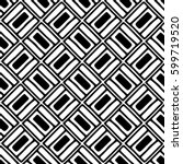 seamless vector pattern. black... | Shutterstock .eps vector #599719520
