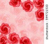 pink flower background | Shutterstock .eps vector #599721533