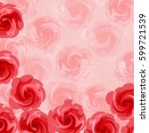 pink flower background | Shutterstock .eps vector #599721539