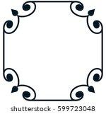 square tile frame border line...   Shutterstock .eps vector #599723048