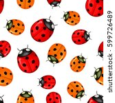 Pattern With Red Ladybugs...