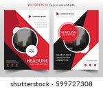 red black circle vector... | Shutterstock .eps vector #599727308